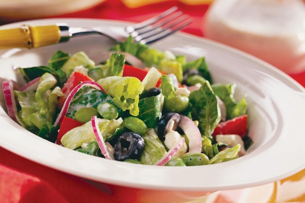 Garden Vegetable Salad with Poppy-Seed Dressing