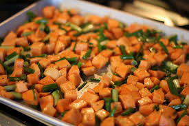Grilled Sweet Potatoes with Scallions