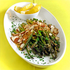 asparagus almonds and lemon