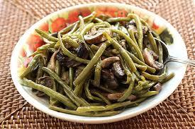green bean and mushroom