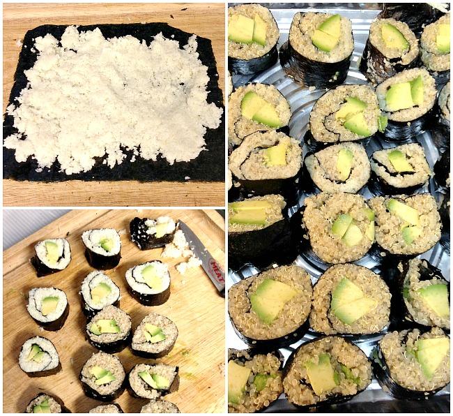 Passover Cauliflower Sushi